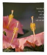 Consider The Lilies How They Grow Fleece Blanket