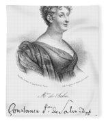 Constance De Salm Fleece Blanket