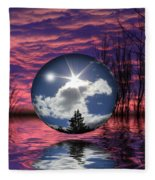 Contrasting Skies Fleece Blanket