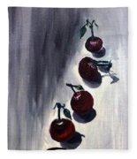Conversation With Cherries  Fleece Blanket