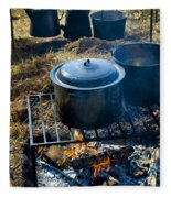 Cook Fire Fleece Blanket
