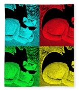 Cool Cat Pop Art Fleece Blanket