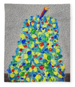 Cool Crazy Pear Abstract Painting Fleece Blanket