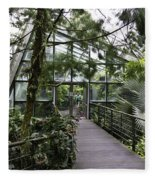 Cool House Inside The National Orchid Garden In Singapore Fleece Blanket