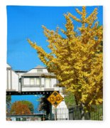 Cooper Young Trestle Looking North Fleece Blanket