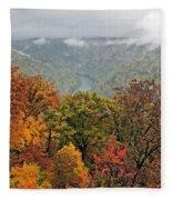 Cooper's Rock West Virginia Fleece Blanket