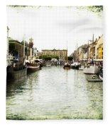 Copenhagen Denmark Fleece Blanket