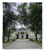 Copper King Daly's Riverside Mansion - Hamilton Montana Fleece Blanket
