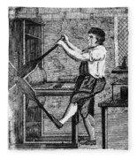 Copper Plate Printer, 1807 Fleece Blanket