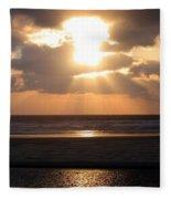 Copper Sunset Stroll Fleece Blanket