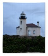 Coquille Lighthouse Fleece Blanket