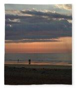 Coral Haze Sunrise Fleece Blanket
