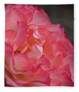 Coral Ruffles Fleece Blanket