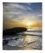 Coral Shoreline Fleece Blanket