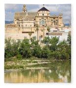 Cordoba Cathedral And Guadalquivir River Fleece Blanket