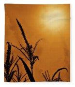 Corn Field Haze  Fleece Blanket