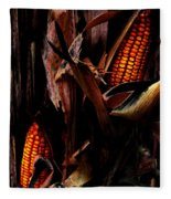Corn Stalks Fleece Blanket