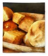Cornbread And Rolls Fleece Blanket
