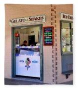 Corner Ice Cream Store Fleece Blanket