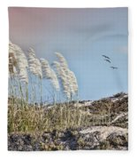Coronado Island Pampas Grass Fleece Blanket