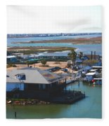 Corpus Christi Bay Towards Mustang Island Texas Fleece Blanket