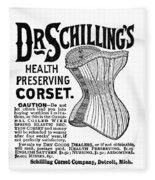 Corset Advertisement, 1887 Fleece Blanket