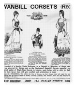 Corset Advertisement, 1892 Fleece Blanket
