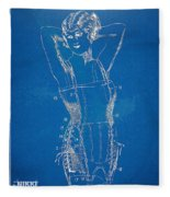Corset Patent Series 1924 Figure 1 Fleece Blanket