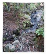 Corte Madera Creek On Mt Tamalpais Fleece Blanket