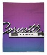 Corvette Sting Ray Emblem Fleece Blanket