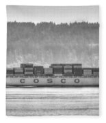 Cosco Cargo Ship Fleece Blanket