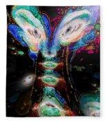 Cosmic Smurf Fleece Blanket