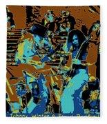 Cosmic Winter Blues 1975 Fleece Blanket