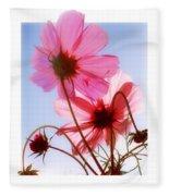 Cosmos Flowers Fleece Blanket