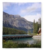 Crossing Emerald Lake Bridge - Yoho Nat. Park, Canada Fleece Blanket