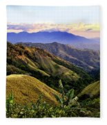 Costa Rica Rolling Hills 1 Fleece Blanket