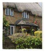 Cotswold Thatched Cottage Fleece Blanket