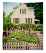 Cottage And Garden Fleece Blanket