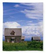 Cottage At Bay Of Chaleur Fleece Blanket