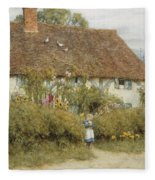 Cottage At West Horsley Surrey Fleece Blanket