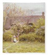 Cottage Freshwater Isle Of Wight Fleece Blanket