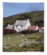 Cottage, Ireland Fleece Blanket