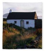 Cottage, Near Dunquin, Dingle Fleece Blanket