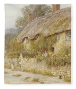 Cottage Near Wells Somerset Fleece Blanket