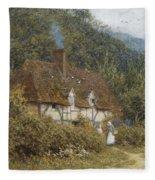 Cottage Near Witley Surrey Fleece Blanket