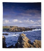 Cottage On Seashore, Ineuran Bay Fleece Blanket