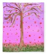 Cotton Candy Sky Wishing Tree Fleece Blanket