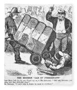 Cotton Loan Cartoon, 1865 Fleece Blanket