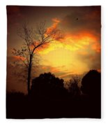 Cottonwood Sunset Fleece Blanket
