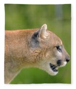 Cougar Profile Fleece Blanket